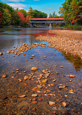 Saco River Bridge 8942 Art Print