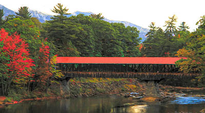 Painting - Saco River Bridge by Dan Sproul