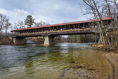 Nh Photograph - Saco River Covered Bridge by Scott Patterson