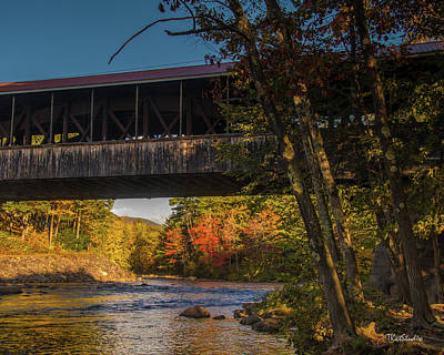 Photograph - Saco River Covered Bridge by Tim Kathka