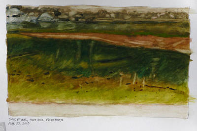 Saco River Maine Art Print by Robert Bissett