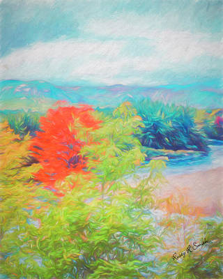 Digital Art - Saco River Valley,white Mountains, New Hampshire by Rusty R Smith