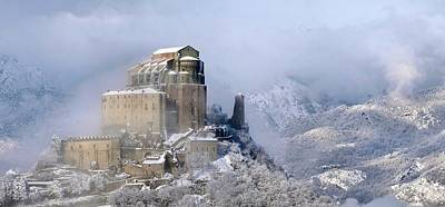 Photograph -  Sacra Di San Michele Saint Michaels Abbey On Mount Pirchiriano Piedmont Italy by Elio Pallard