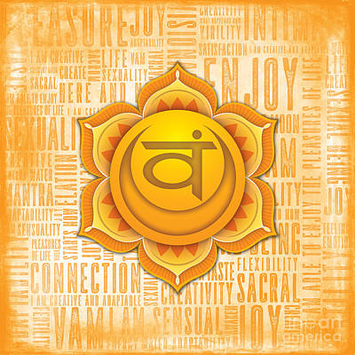 Digital Art - Sacral Chakra - Awareness by David Weingaertner