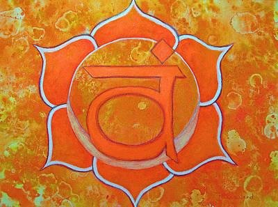 Second Chakra Painting - Sacral Chakra - Svadhisthana by Mary Pumpelly-Knowland