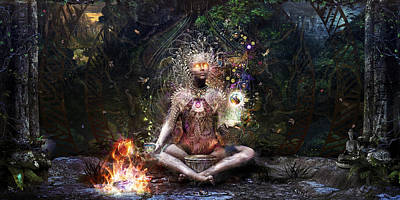 Visionary Digital Art - Sacrament For The Sacred Dreamers by Cameron Gray