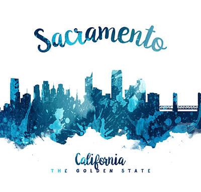 Sacramento Painting - Sacramento California 27 by Aged Pixel