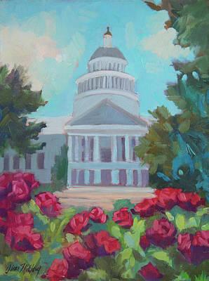 Sacramento Capitol And Roses Original