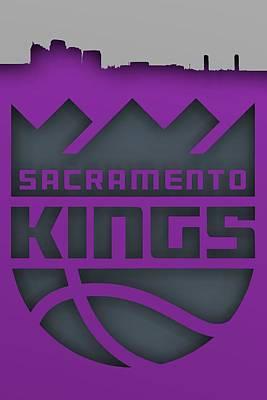 Sports Digital Art - Sacramento Kings Skyline, by Alberto RuiZ