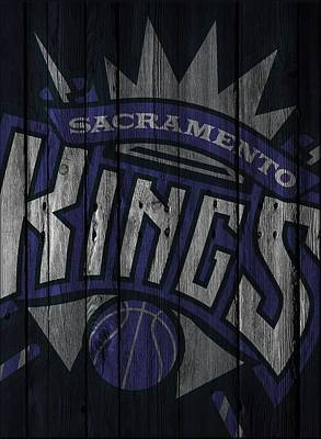 Photograph - Sacramento Kings Wood Fence by Joe Hamilton
