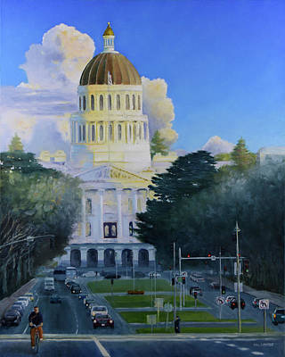 Painting - Sacramento State Capitol  by Mike Patterson
