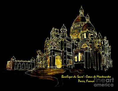 Digital Art - Sacre Coeur 2016 by Kathryn Strick