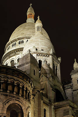 Photograph - Sacre Coeur At Night - 1 by Hany J