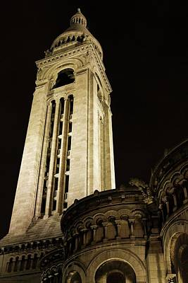 Photograph - Sacre Coeur At Night - 2 by Hany J