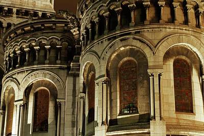 Photograph - Sacre Coeur At Night - 3 by Hany J