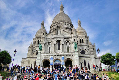 Photograph - Sacre-coeur Basilica Study 1 by Robert Meyers-Lussier