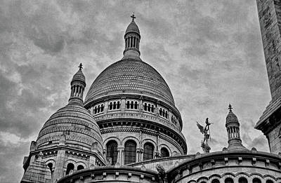Photograph - Sacre-coeur Basilica Study 2 by Robert Meyers-Lussier