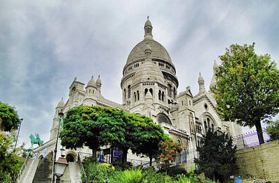 Photograph - Sacre-coeur Basilica Study 3 by Robert Meyers-Lussier