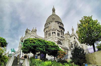 Photograph - Sacre-coeur Basilica Study 3 by Robert Meyers-Lussier