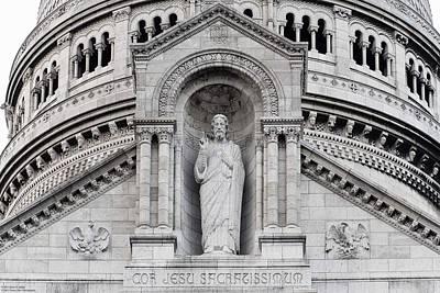 Photograph - Sacre Coeur Close-up - 1  by Hany J