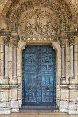 Photograph - Sacre Coeur Doorway by Brian Jannsen