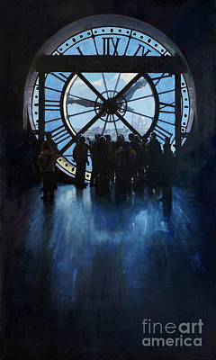 Wall Art - Painting -  Sacre Coeur From Musee D Orsay by Patrick Saunders