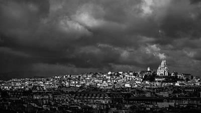 Photograph - Sacre Coeur Glow Paris France by Lawrence S Richardson Jr