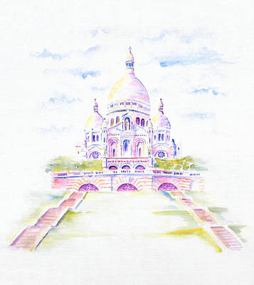 Painting - Sacre Coeur  by Elizabeth Lock