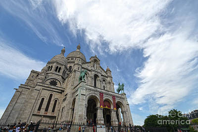 Sacre Coeur Photograph - Sacre Coeur, Paris, France 1  by Amir Paz