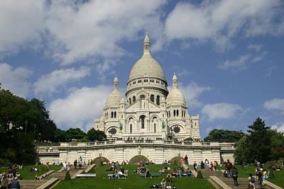 Sacre Coeur  Paris France Art Print by Matthew Kennedy