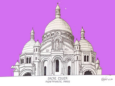 Drawing - Sacre Couer by Frederic Kohli