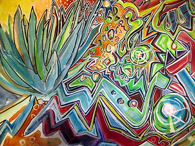 Painting - Sacred Agave by Steven Holder