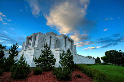 Photograph - Cardson Alberta Temple by David Andersen