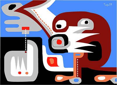 Sacred Cenote Print by Victor  M Trejo