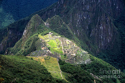 Sacred City Of Machu Picchu Art Print by James Brunker