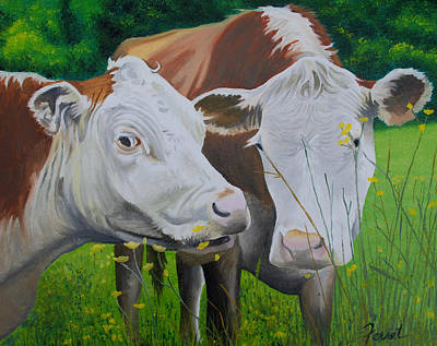 Sacred Cows Art Print by Ferrel Cordle