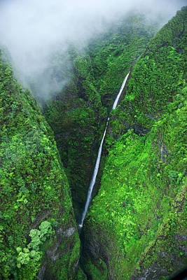 Photograph - Sacred Falls - Oahu by Sean Davey