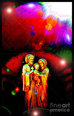 Photograph - Sacred Family In Cosmos by Susanne Still