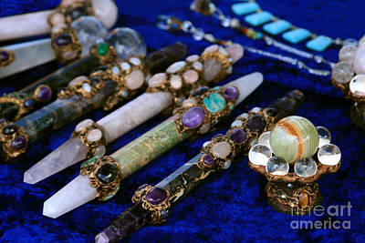 Photograph - Sacred Gemstones Energy Amulets Crystal Balls Magic Wands by Sharon Mau