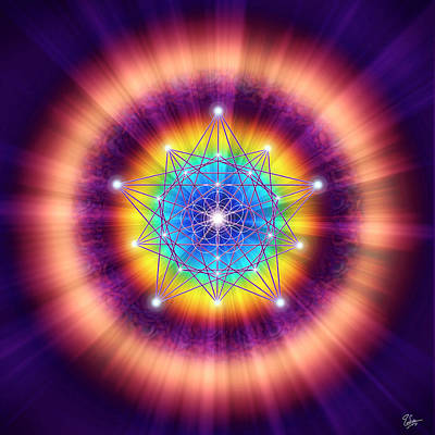 Digital Art - Sacred Geometry 12 by Endre Balogh