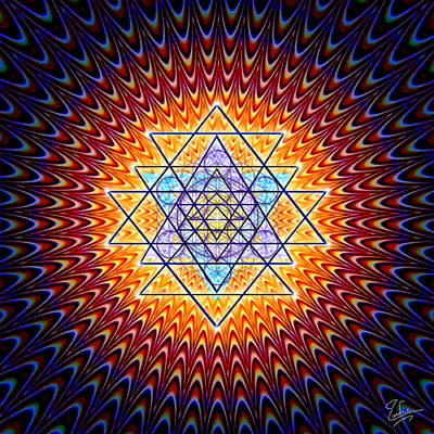 Digital Art - Sacred Geometry 141 by Endre Balogh