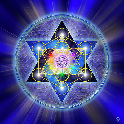 Digital Art - Sacred Geometry 15 by Endre Balogh