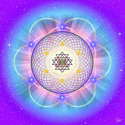Digital Art - Sacred Geometry 21 by Endre Balogh