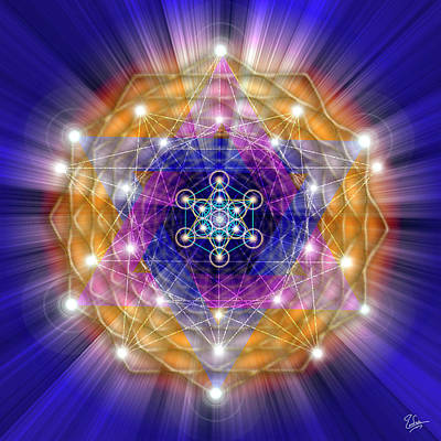 Digital Art - Sacred Geometry 23 by Endre Balogh
