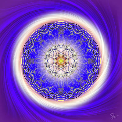 Digital Art - Sacred Geometry 290 by Endre Balogh