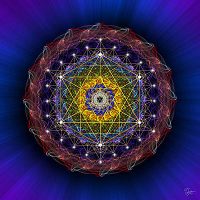 Photograph - Sacred Geometry 391 by Endre Balogh