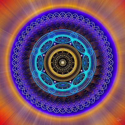 Photograph - Sacred Geometry 426 by Endre Balogh
