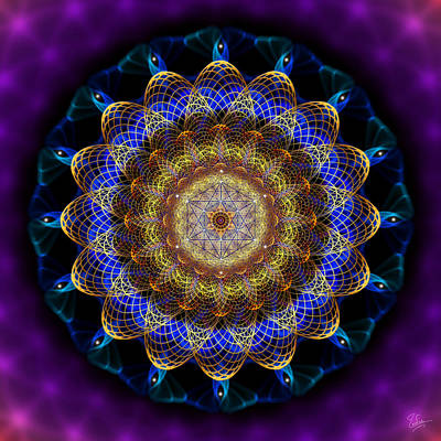 Photograph - Sacred Geometry 445 by Endre Balogh