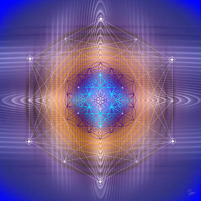Digital Art - Sacred Geometry 447 by Endre Balogh