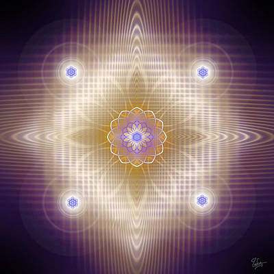 Digital Art - Sacred Geometry 448 by Endre Balogh